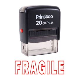 printtoo rubber stamp bureau fragile self encrage papeterie personnalisée stamp -rouge