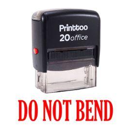 bureau printtoo papeterie personnalisée stamp ne pas plient self encrage rubber stamp -rouge