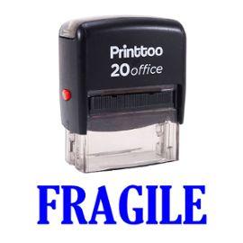 bureau printtoo papeterie personnalisée timbre fragile self encrage rubber stamp -Bleu