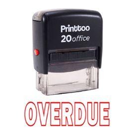 printtoo rubber stamp bureau retard self encrage papeterie personnalisée stamp -rouge