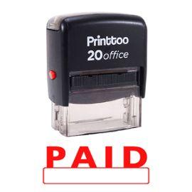 printtoo self encrage rubber stamp bureau payé papeterie personnalisée stamp -rouge