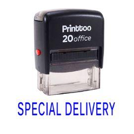 bureau printtoo papeterie personnalisée timbre special delivery self encrage rubber stamp -Bleu