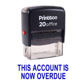 bureau printtoo papeterie personnalisée timbre ce compte est maintenant en retard self encrage rubber stamp -Bleu