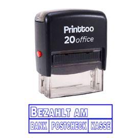 printtoo self encrage rubber stamp bureau bezahlt am papeterie personnalisée stamp -Bleu
