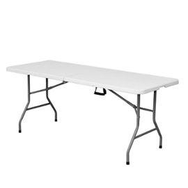 Table De Jardin Pliante 180cm Plastique Blanc L 180 X L 70 X H 74