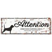 D Beagle Blanc Plaque amp;d Attention Chien 29WHYEeDI