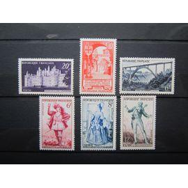France. Timbres de 1952 et 1953. N° 924 (1952) N° 926 (1952) N° 928 (1952) N° 943 (1953) N° 956 (1953) N° 957 (1953)