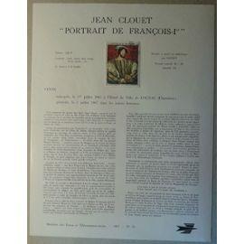 Notice Philatélique Ministère des Postes de Télécommunications 1967 n°19 Timbre n°1518 YT Jean Clouet Portrait de François 1er Oblitéré