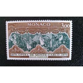TIMBRE MONACO YT 1195 Allégorie de la musique instrumentale, par Gustav Boulanger 1979