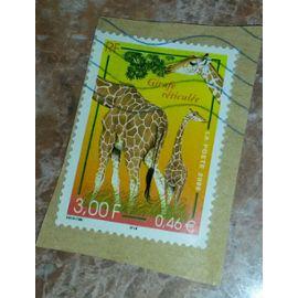 Timbre série Nature de France. La girafe réticulée. Album Yves et Tellier No 3333