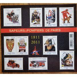TIMBRE BLOC FEUILLET 2011 SAPEURS POMPIERS DE PARIS NEUF