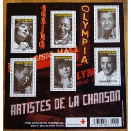 TIMBRE BLOC FEUILLET 2011 ARTISTE DE LA CHANSON NEUF