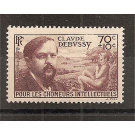 437 (1939) Claude Debussy 70c + 10c brun-lilas N* (cote 4,6e) (5818)