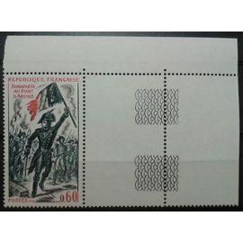 Timbre 1972 Yvert et Tellier n°1730 Bonaparte au Pont d'Arcole Coin de Feuille Neuf**