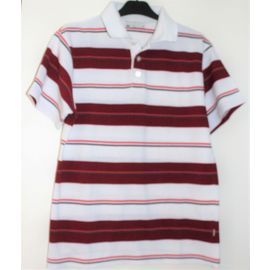 Polo Brice rayé Rouge blanc taille 3 - Mode