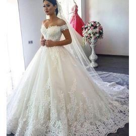 Dentelle De Luxe Robe De Bal Robes De Mariée Moyen Orient Princesse Robe De Mariée