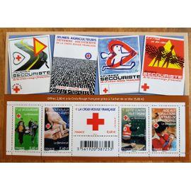 Timbre Bloc Feuillet 2011 Le bénévolat Carnet Croix-Rouge neuf