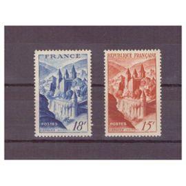 2 timbres Abbaye de Conques