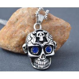 collier homme skull