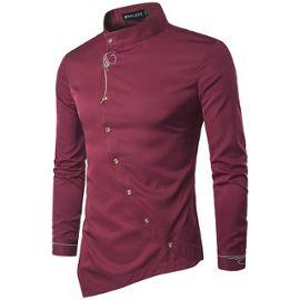 détaillant en ligne e1a67 bf08d Chemise Homme Nouvelle Mode Collection Marque De Luxe Vetement Chemise De  Haute Qualite HZ-FZ105rouge-XS