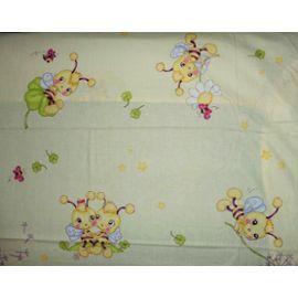 Les petites abeilles//Lot de 2 draps housse PatiChou pour lit b/éb/é 70x140 cm