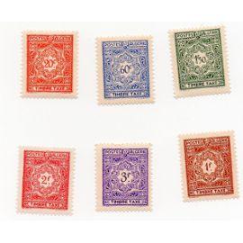 Algérie- Lot de 6 timbres TAXE neufs- N°T35/40