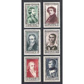 france, 1951, célébrités et personnages célèbres du 19è siècle, n°891 à 896, neufs.