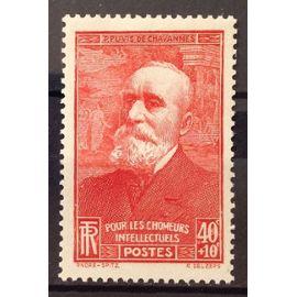 Chômeurs Intellectuels Puvis 40c+10c rouge (Très Joli n° 436) Neuf* - France Année 1939 - N20998