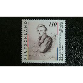 TIMBRE ALLEMAGNE rfa YT 1794 Heinrich Heine (1797-1856), poète et publiciste 1997