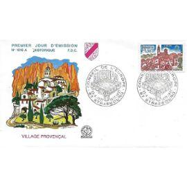 france 1977, très belle enveloppe 1er jour FDC 1016A, village provençal, timbre yvert 1928 europa, cachet conseil de l
