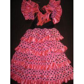 Robe Espagnole Traditionnelle Flamenco 6 Ans Rose Rakuten