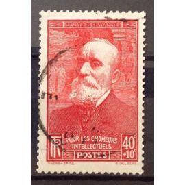 Chômeurs Intellectuels 1939 - Puvis de Chavannes - 40c+10c rouge (Joli n° 436) Obl - France Année 1939 - N21108