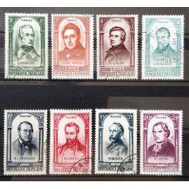 Série Centenaire Révolution 1848 - N° 795 Lamartine + 796 Ledru-Rollin + 797 + 798 + 799 + 800 Proudhon + 801 Barbès + 802 Obl - Cote 23,00€ - France Année 1948 - N21118