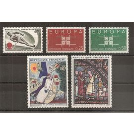 1395 à 1399 (1963) Série de timbres neufs N** (cote 4,6e) (4613)
