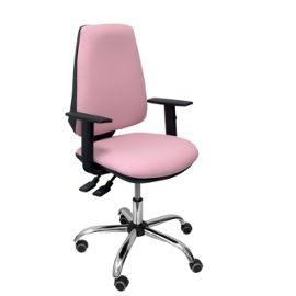 Chaise De Bureau Ergonomique Avec Mécanisme Synchrone Et Réglable En Hauteur Assise Et Dossier Rembourrés En Tissu Bali De Couleur Rose Pâle