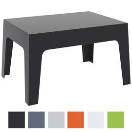 CLP Table Basse de Jardin BOX en Plastique -Table d?Appoint pour Usage  Extérieur Empilable - Hauteur 43 cm Résistante aux Intempéries et aux  Rayons ...