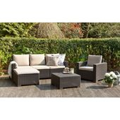 Moorea salon de jardin 4 pieces aspect rotin