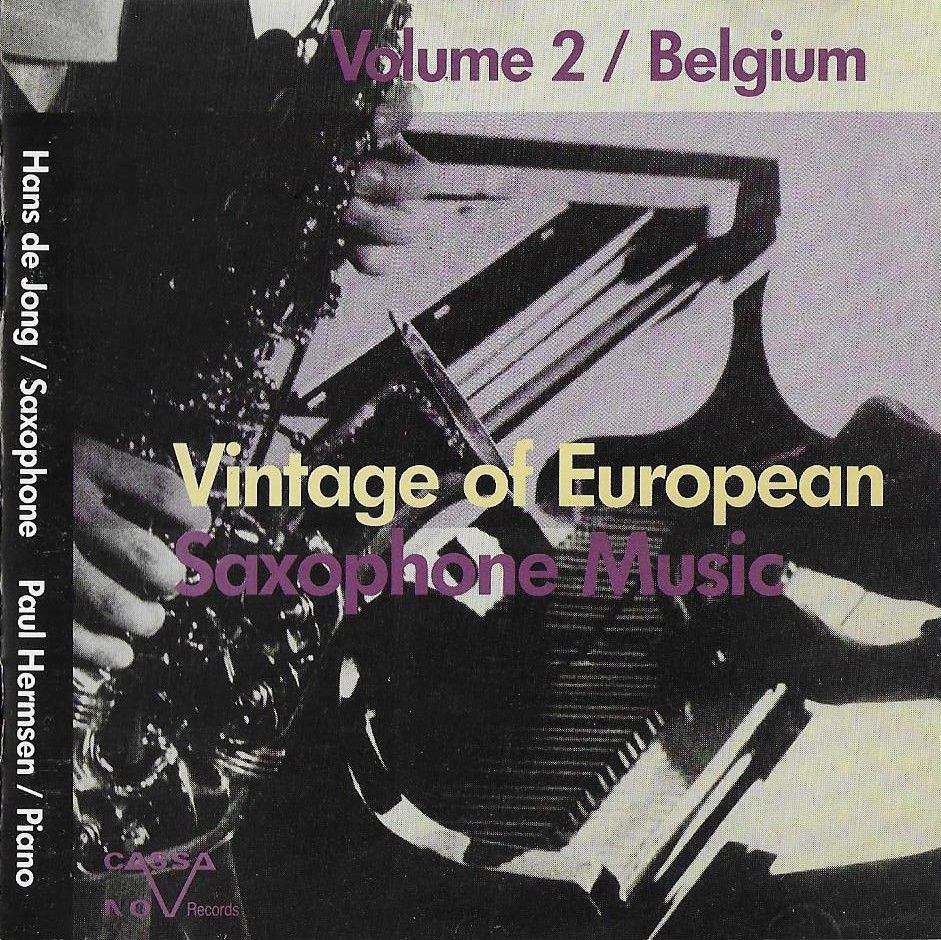 vintage of european saxophone music - volume 2 - Belgium | Rakuten