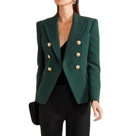 sélection premium c81bc 8969d Veste Mi Saison Femme de Costume Slim Fit Veste Femme Vert