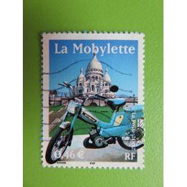 Timbre France YT 3472 - Le siècle au fil du timbre - Transports - La mobylette - 2002