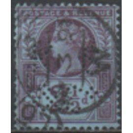 Grande Bretagne: Un timbre de 1887 émis pour le Jubilé de la reine Victoria.