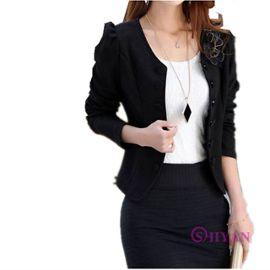 Veste courte noir et blanc