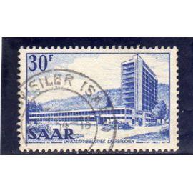 Timbre-poste de Sarre (Bibliothèque de l'Université de Sarrebruck)
