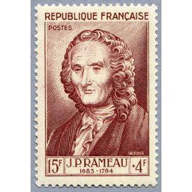 france 1953, série célébrités, très bel exemplaire neuf** luxe yvert 947, jean philippe rameau, compositeur français.