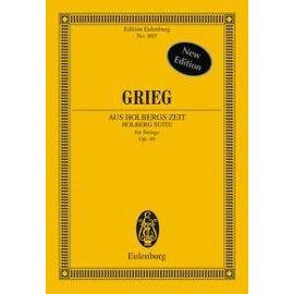 Holberg Suite Op.40 / Conducteur de poche - Edvard Grieg