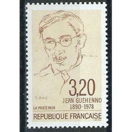 Centenaire de la naissance de Jean GUEHENNO écrivain, critique et polémiste. 1990 n° 2641