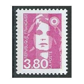 Marianne du bicentenaire 3f80 rose 1990 n° 2624