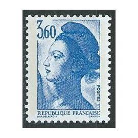 Type liberté de Delacroix 3f 60 bleu 1987 n° 2485