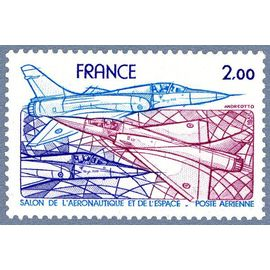 france 1981, très bel exemplaire de poste aérienne neuf** luxe yvert 54, salon de l