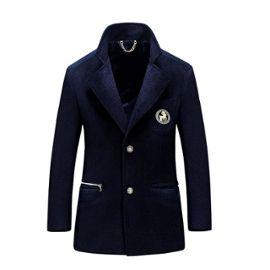 métal hiver Marque automne Parka PM300086 debout homme de Vêtement au chaîne Insigne col en manteau Masculin et chaud wkTPXZilOu